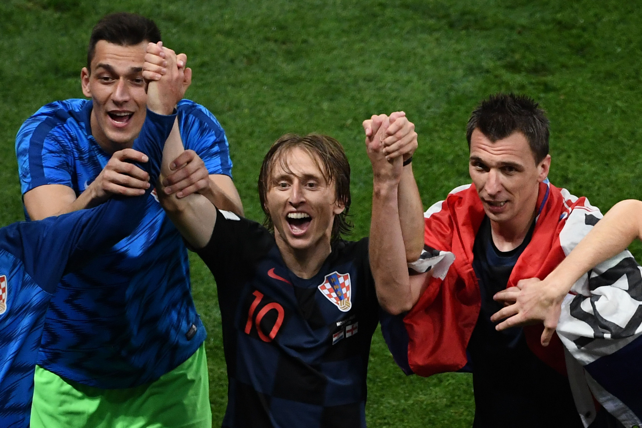 Croatia players celebrate after reaching the World Cup final ©Getty Images