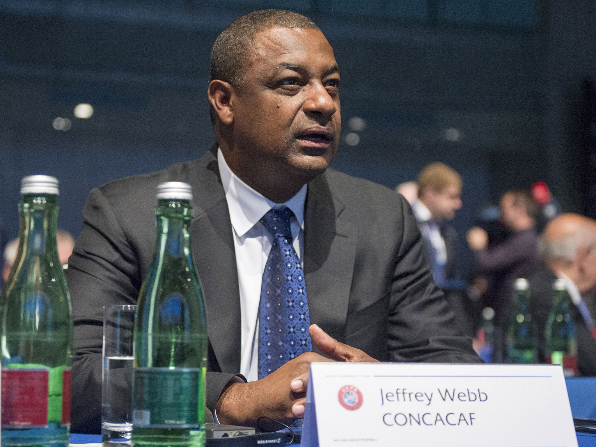 CONCACAF President Jeffrey Webb was among the top officials that Spanish broadcaster MediaPro admitted bribing for media and marketing rights ©Getty Images