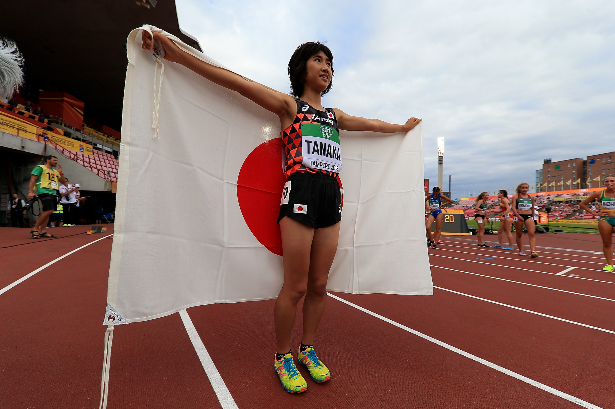 Nozomi Tanaka was one of two Japanese gold medal winners on the second day of competition ©Getty Images