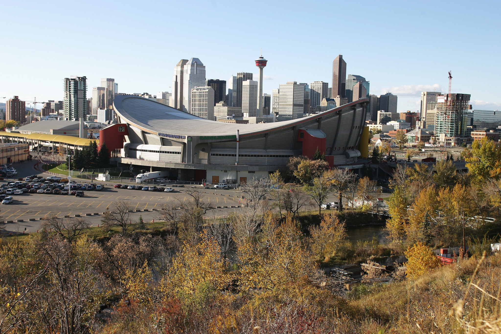 Existing infrastructure and expertise in running events was claimed to reduce risks around Calgary hosting the Olympic and Paralympic Games in 2026 - although not all the audience were convinced ©Getty Images