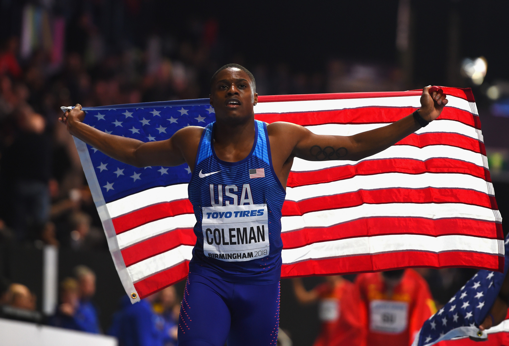 World indoor 60m champion Christian Coleman returns to action after injury at tomorrow's IAAF Diamondl League meeting in Rabat ©Getty Images