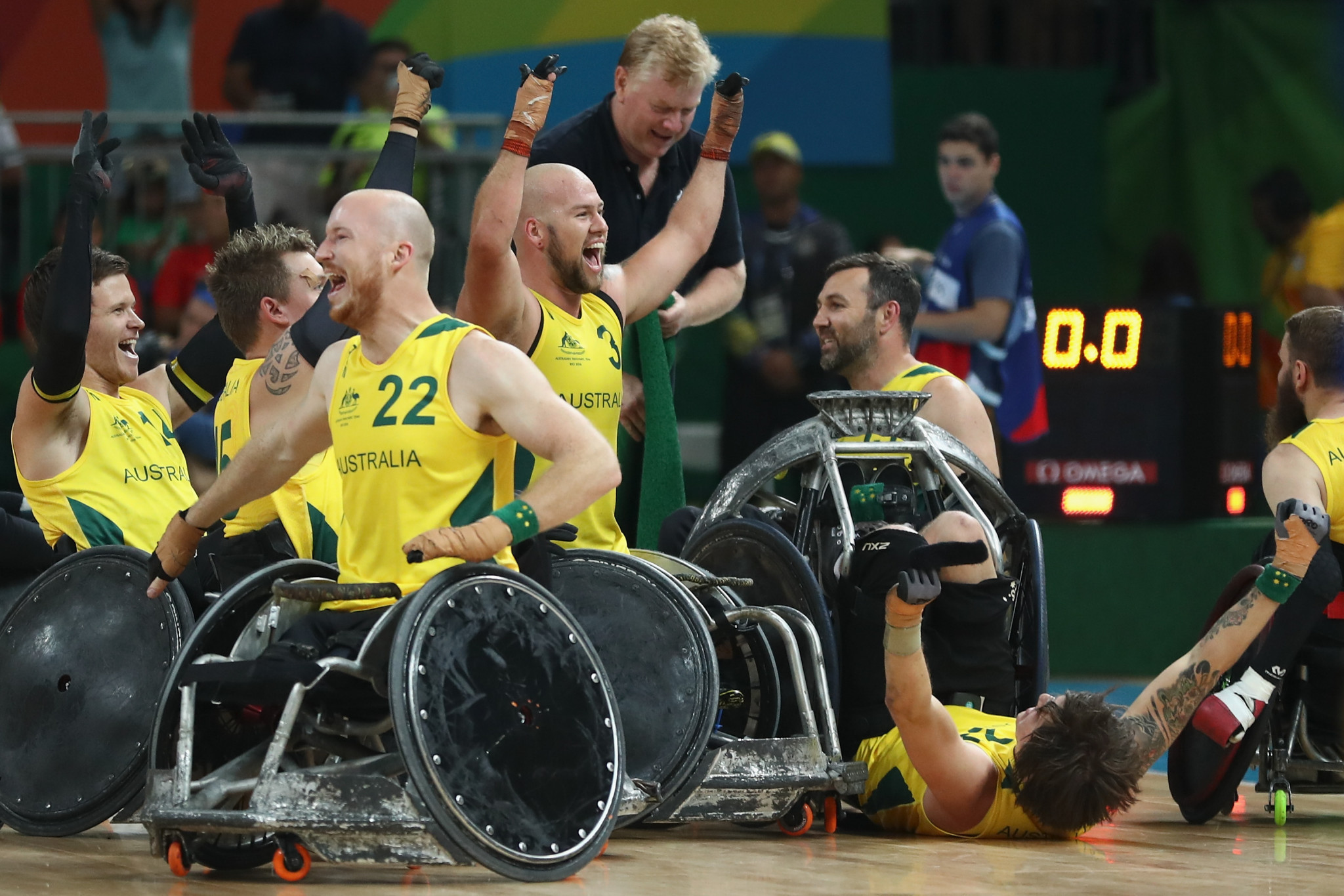 Australia are the reigning Paralympic and world champions in wheelchair rugby ©Getty Images