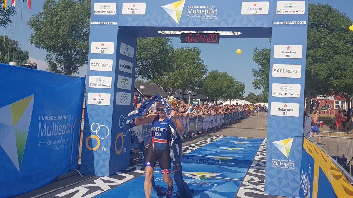 Hannesdottir earns aquathon title at ITU Multisport World Championships