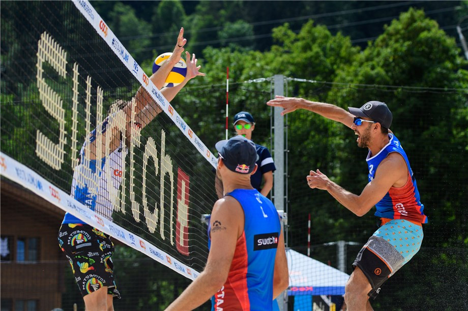 Dalhausser and Lucena bounce back to reach FIVB Gstaad Major second round