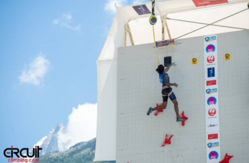 Boldyrev and Rudzinska speed to repeat golds at IFSC Chamonix World Cup