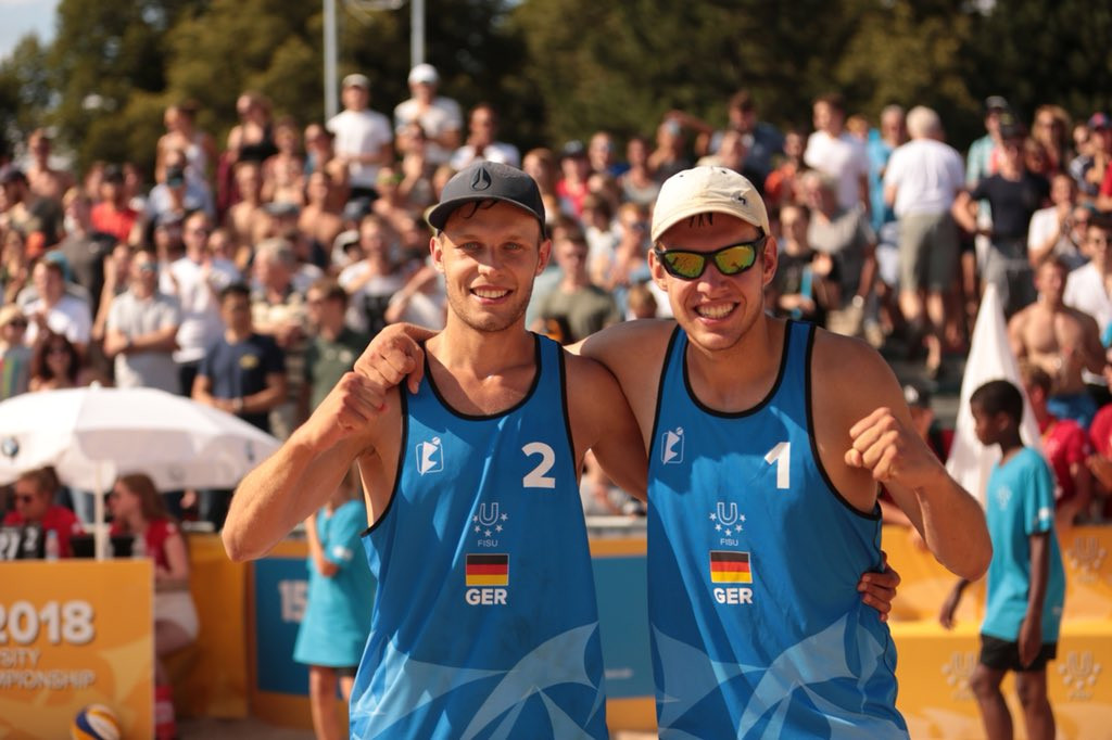 John and Stadie defeat top seeded compatriots to win World University Beach Volleyball Championship title