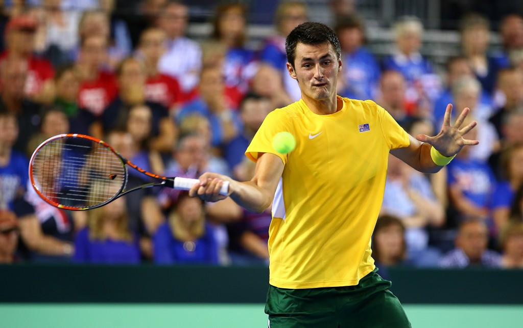 Australia's Tomic survives Evans rally to level Davis Cup semi-final with hosts Britain