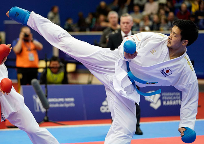 Japan are through to four of the 11 kumite finals ©WKF