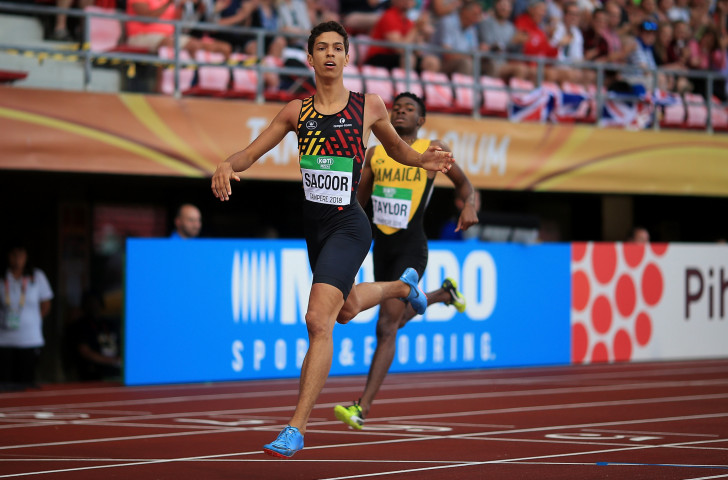 Belgium's Jonathan Sacoor was an assured winner of the 400m gold at the IAAF World Under-20 Championships in Tampere, Finland today ©Getty Images