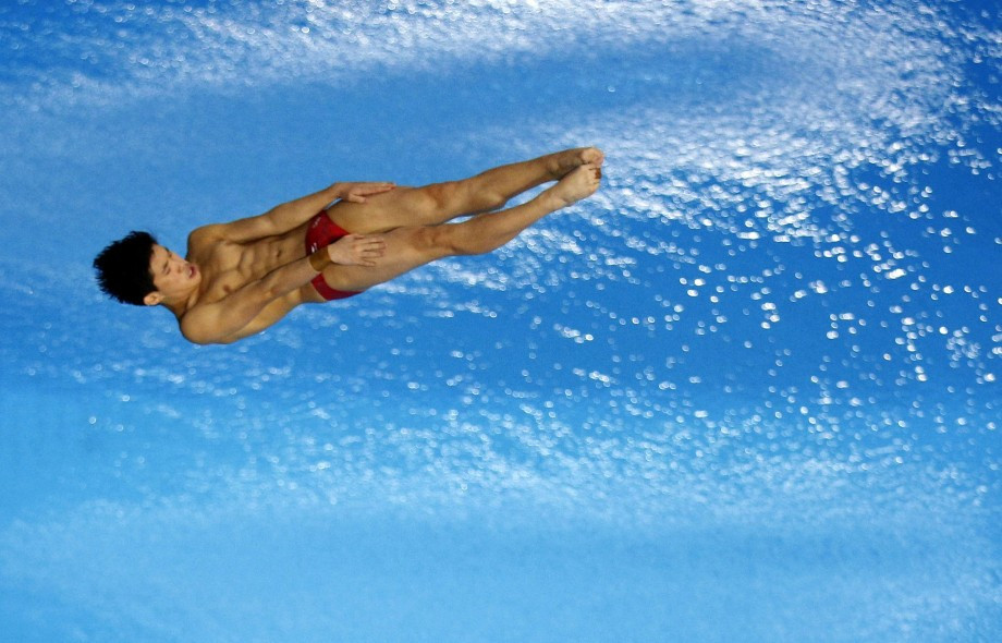 Xiaohu Tai won men's platform gold ©Getty Images