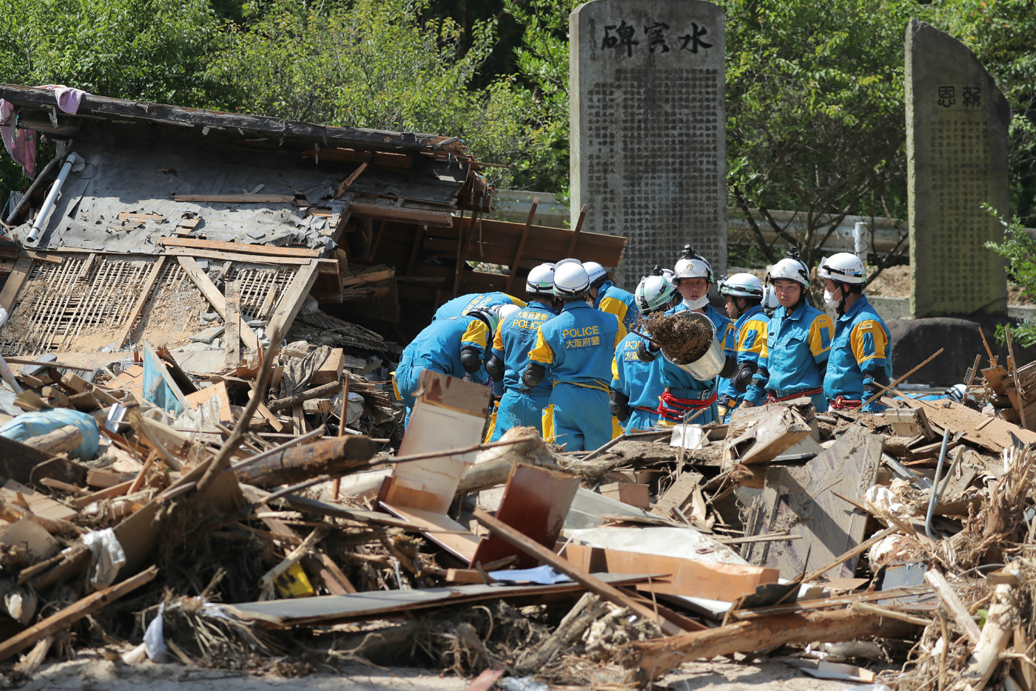 The floods in western Japan meant there was a sombre mood in Tokyo this week ©Getty Images
