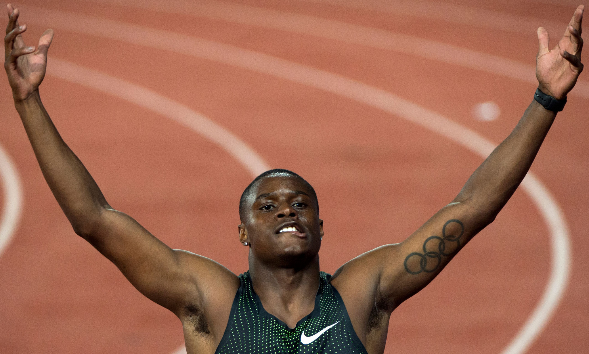 Christian Coleman rediscovers the winning feeling in the 100m at the IAAF Diamond League in Rabat ©Getty Images