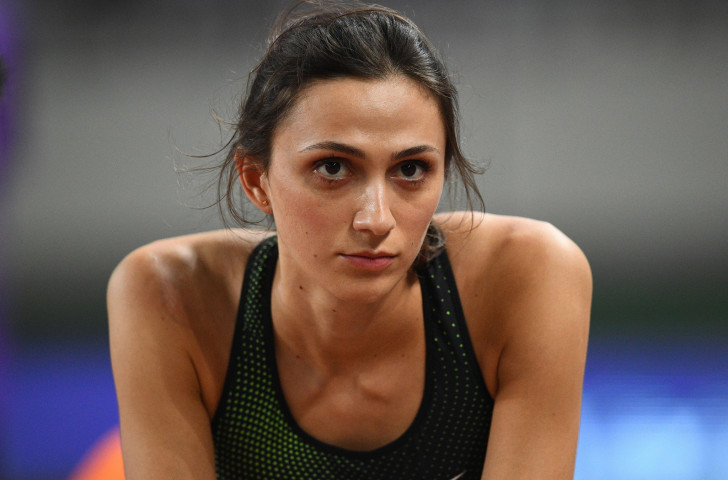 Mariya Lasitskene's unbeaten run of 45 women's high jump victories came to an end in tonight's IAAF Diamond League meeting in Rabat ©Getty Images