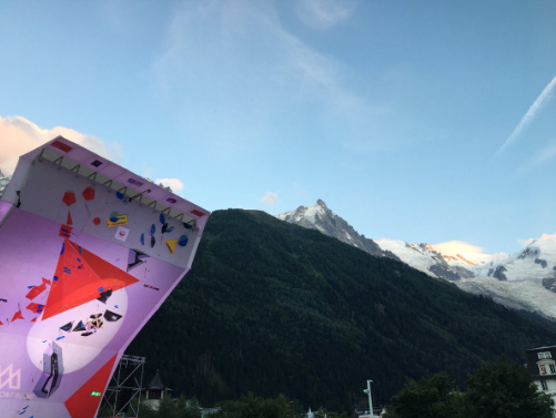 The IFSC World Cup in Chamonix took place in spectacular surroundings ©ISFC