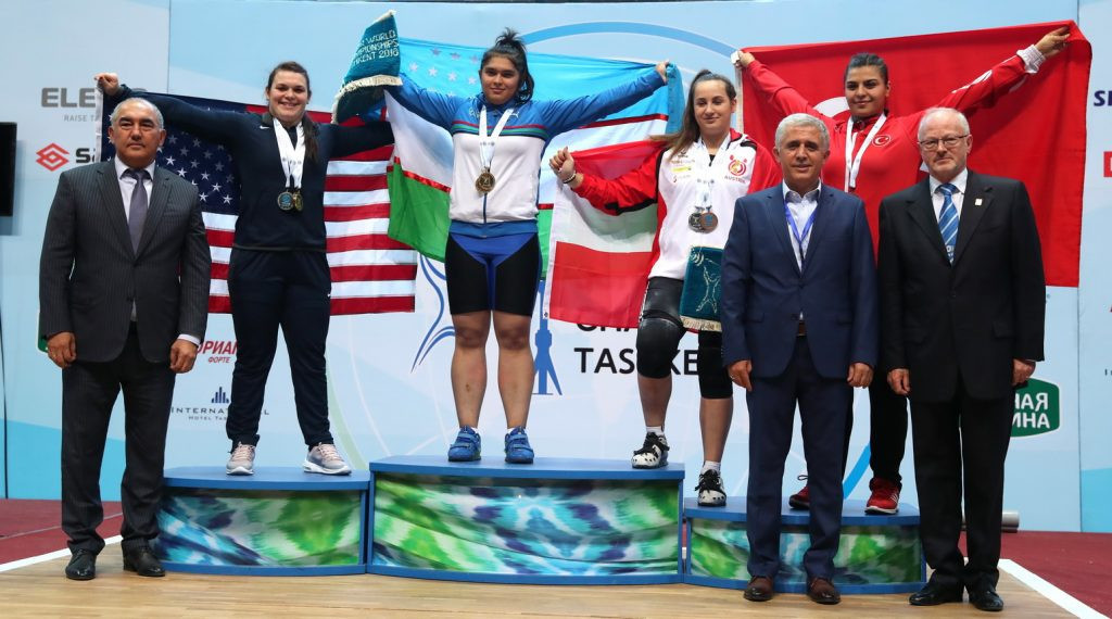 Dolera Davronova claimed a third overall gold medal for hosts Uzbekistan after winning the women's 90 kilograms title at the IWF Junior World Championships in Tashkent ©IWF