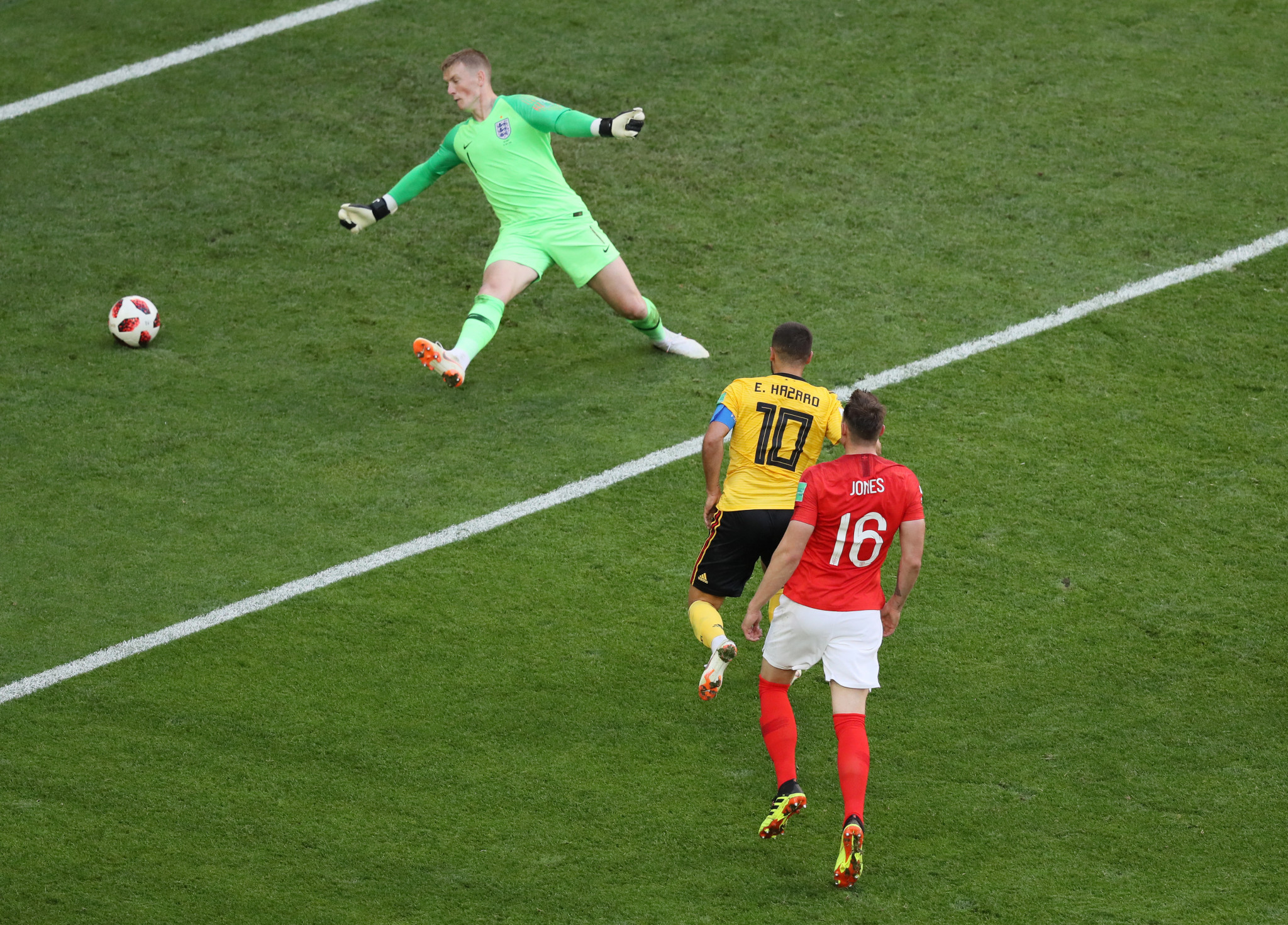 Eden Hazard scored Belgium's second goal to seal their best finish at a FIFA World Cup ©Getty Images
