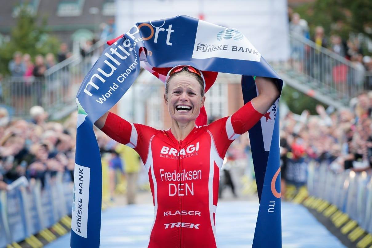 Helle Frederiksen delighted the home crowd by claiming the elite women's long-distance title on the final day of the ITU Multisport World Championships in Denmark ©ITU Multisport World Championships Festival/Facebook