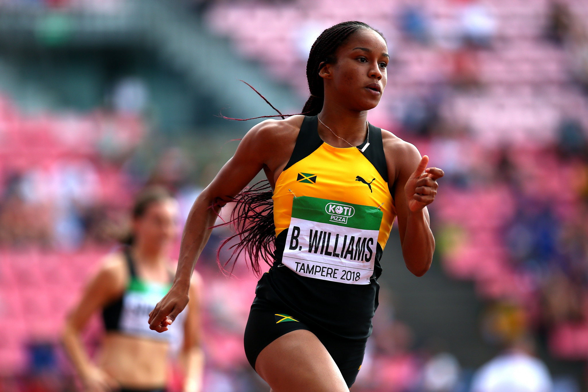 Jamaica's Briana Williams won 200m gold at the IAAF World Under-20 Championships in Tampere ©Getty Images