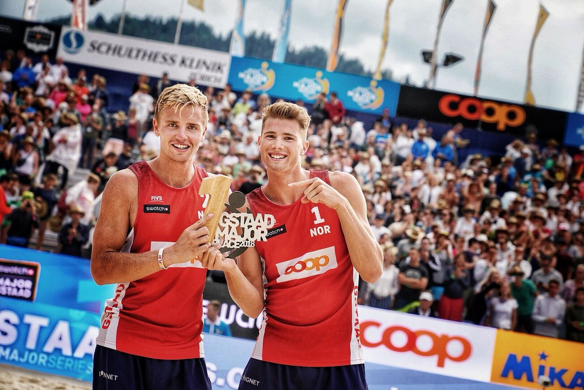 Norwegian pair claim historic title at FIVB Gstaad Major