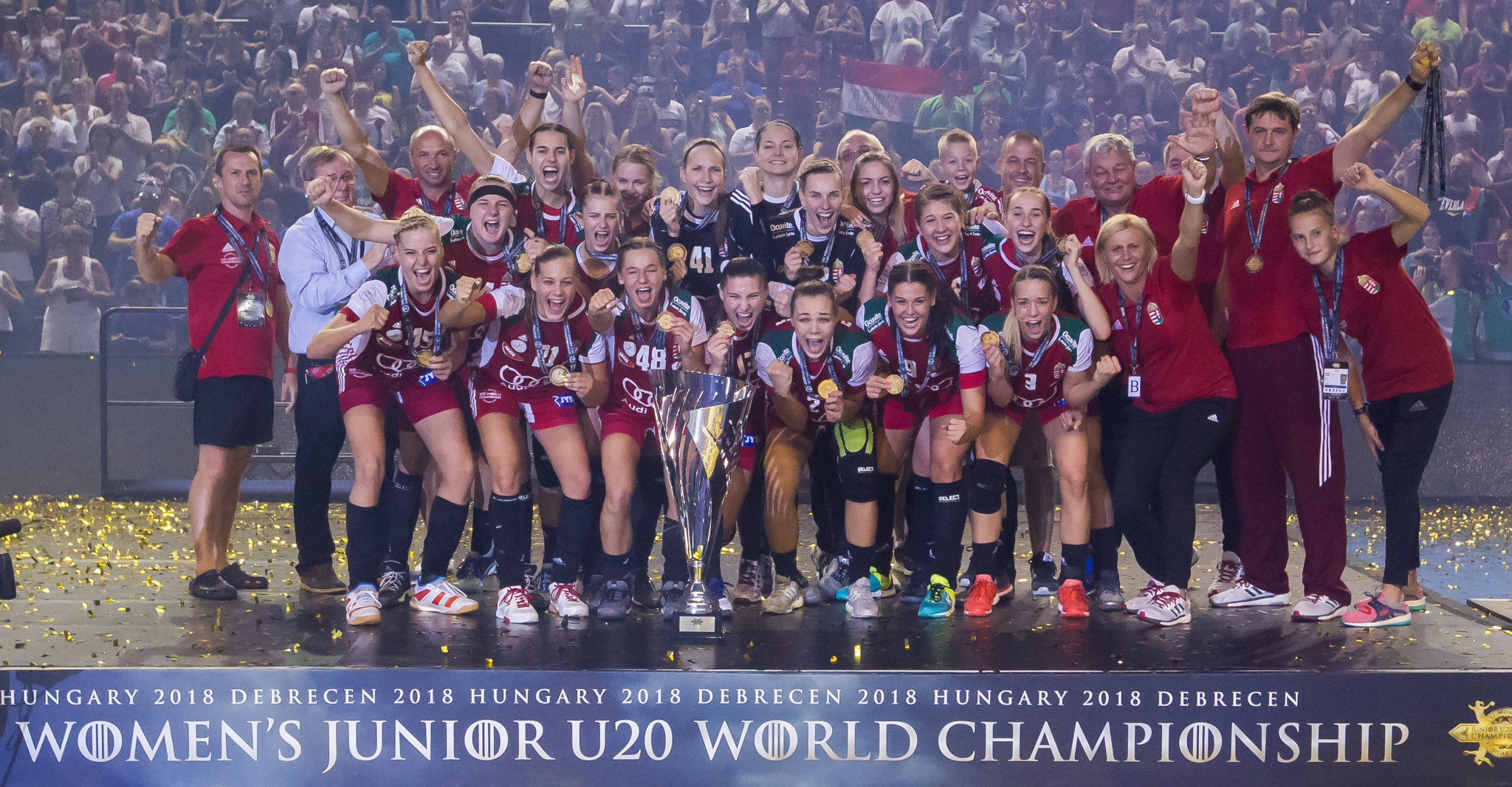 Hungary won the world junior title on home soil ©IHF