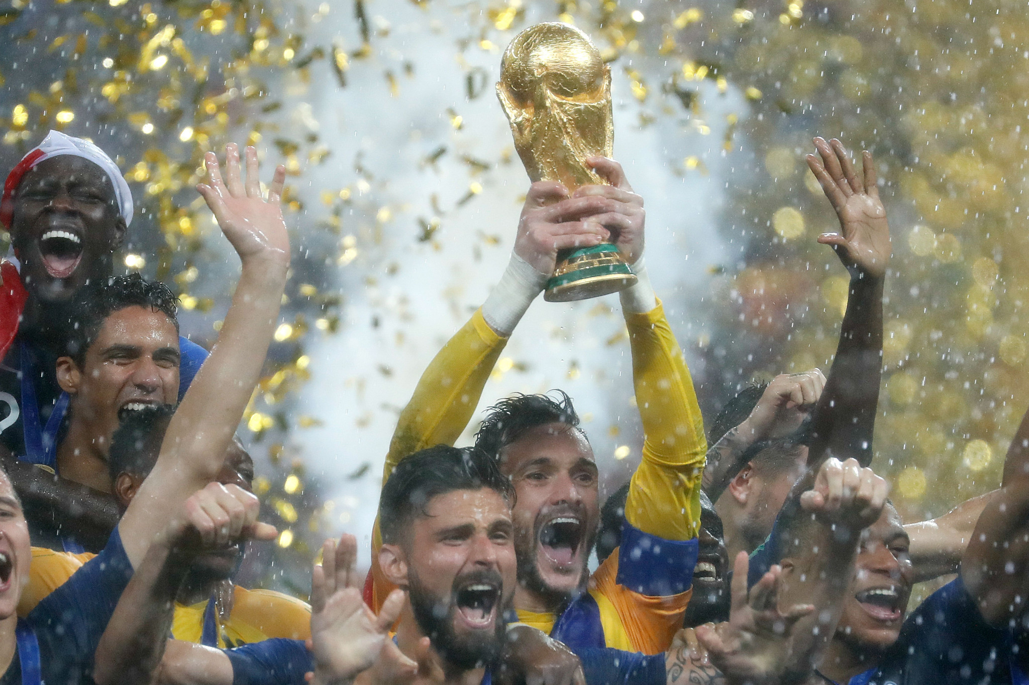 France celebrated their second World Cup title after beating Croatia ©Getty Images