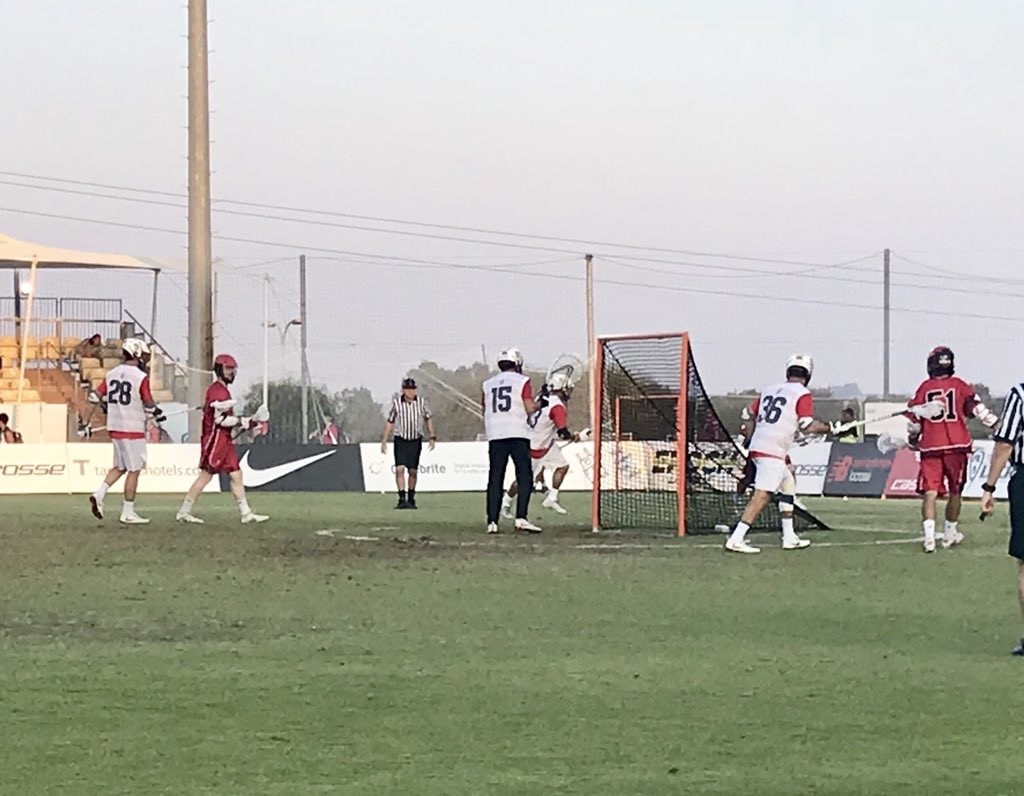 The United States registered a narrow 11-10 win over holders Canada today to take charge of the blue division at the 2018 Men's Lacrosse World Championship in Israel ©FILacrosse/Twitter