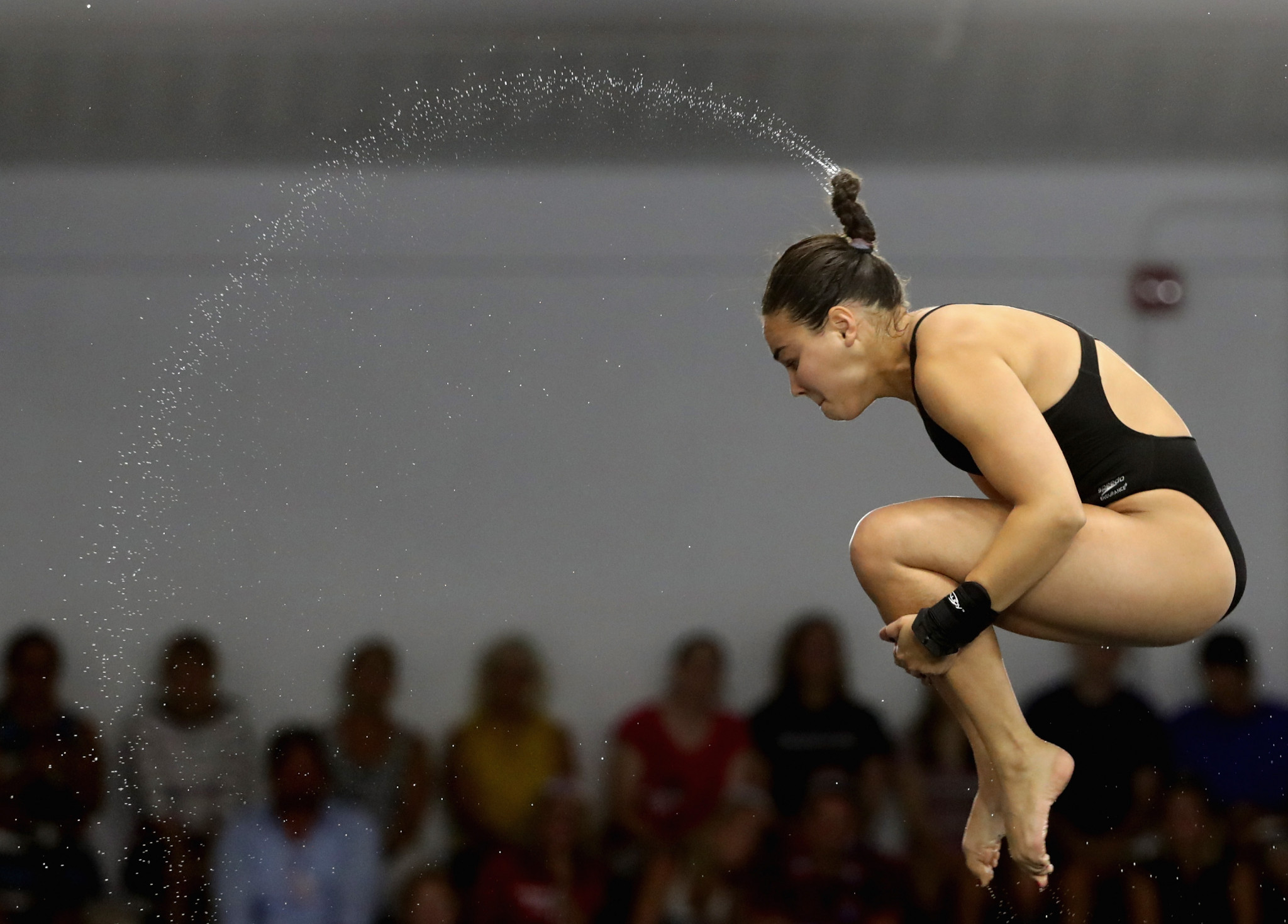 Samantha Bromberg won the women's platform event ©Getty Images