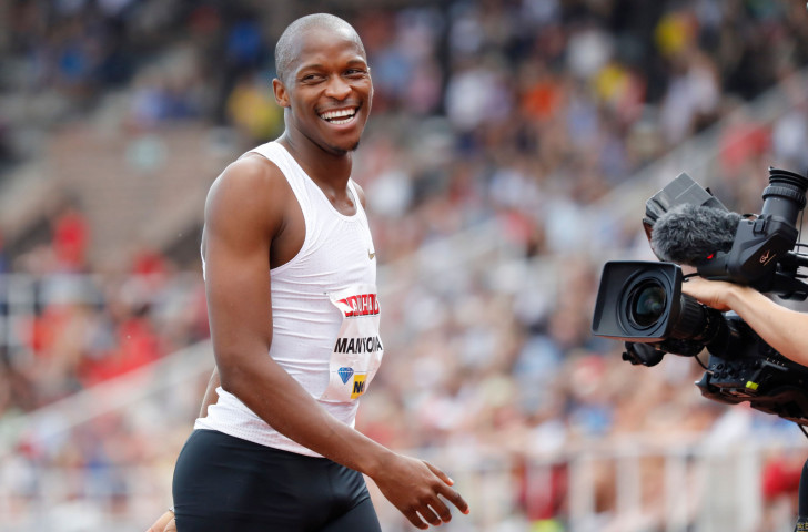 South Africa's world long jump champion Luvo Manyonga produced one of the performances of the second and concluding night of the Athletics World Cup at London's Olympic Stadium as he won with 8.51m ©Getty Images