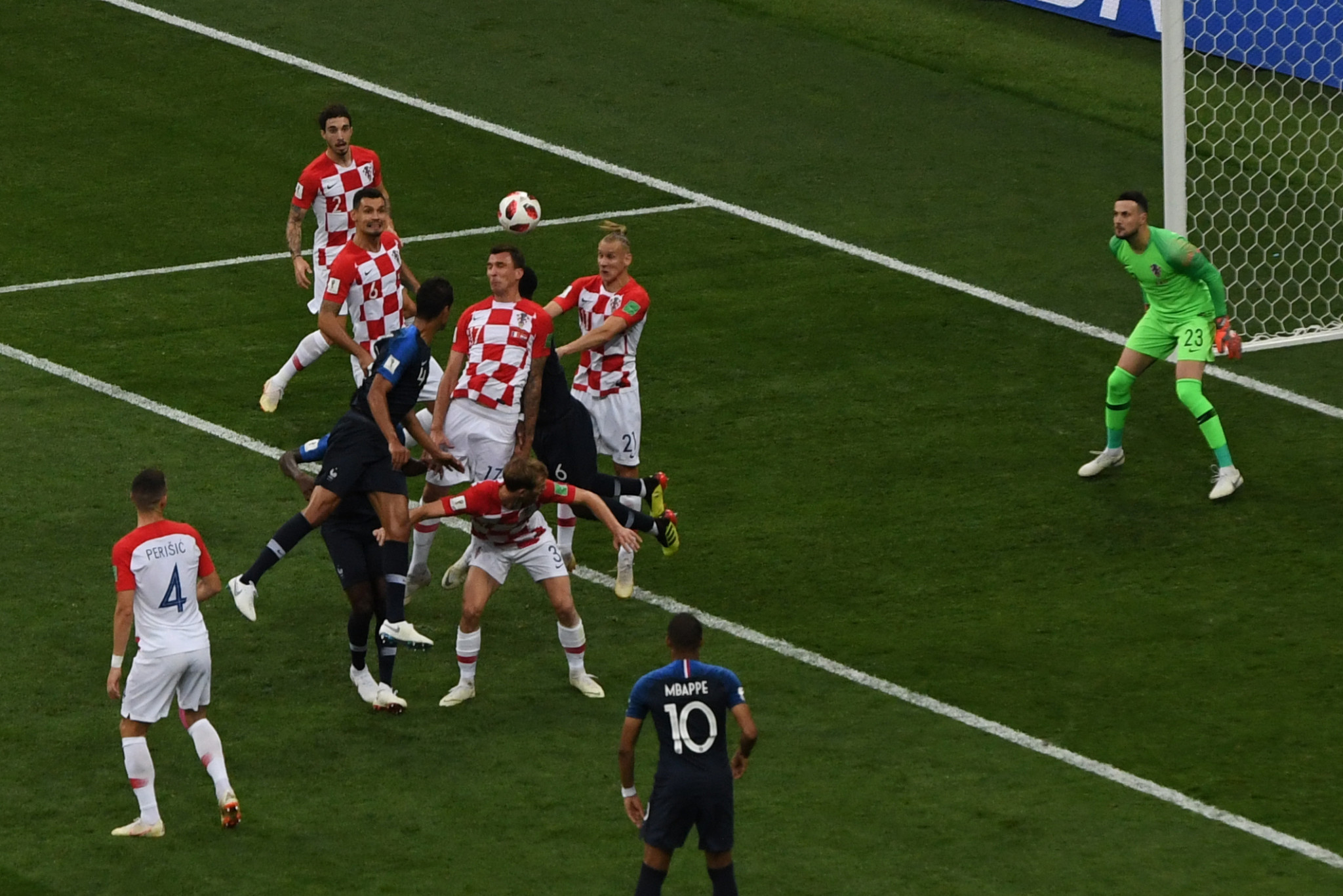 After a bright start Croatia fell behind when Mario Mandzukic glanced a header into his own net ©Getty Images