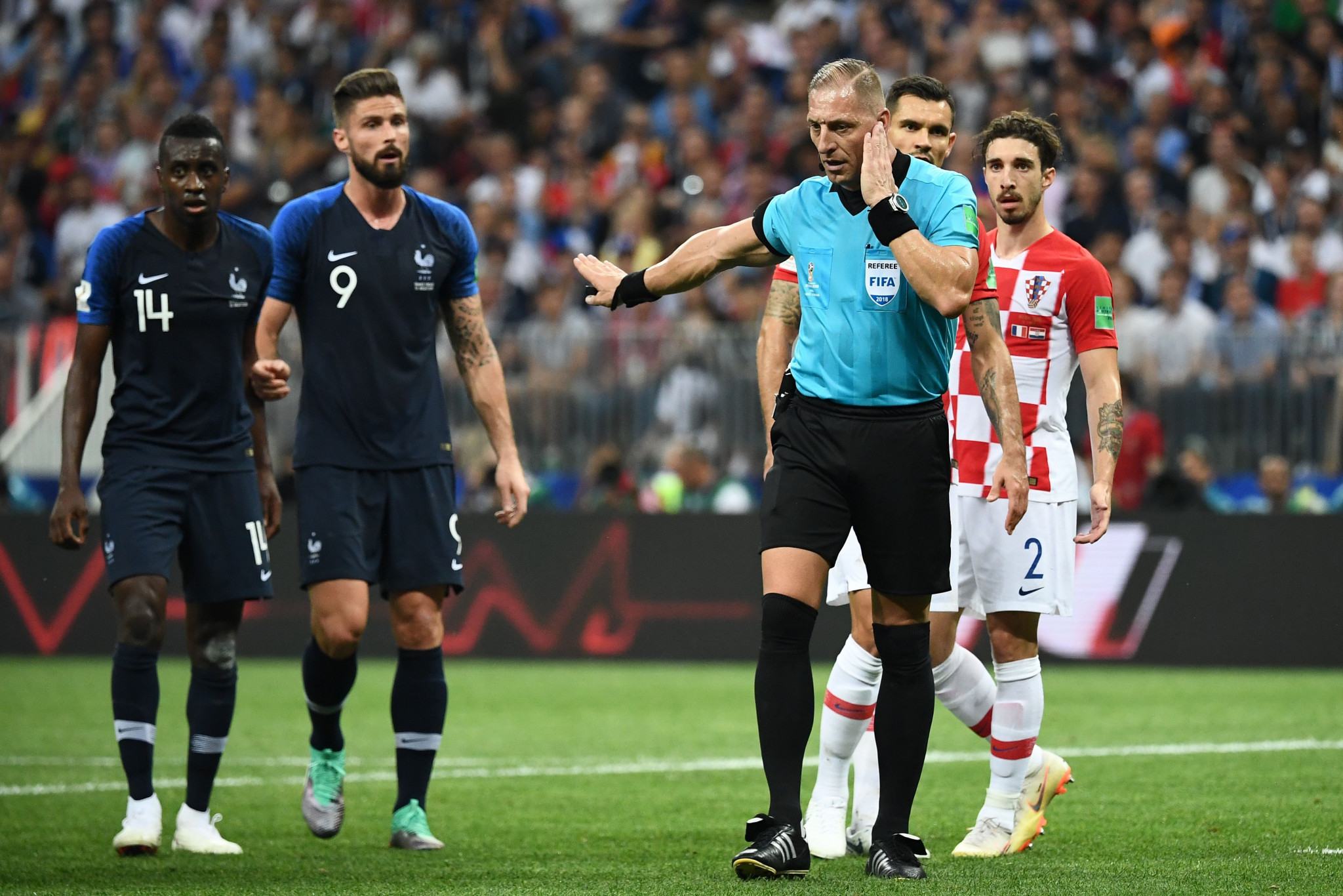 France regained the lead after the first VAR assisted penalty in a World Cup final ©Getty Images