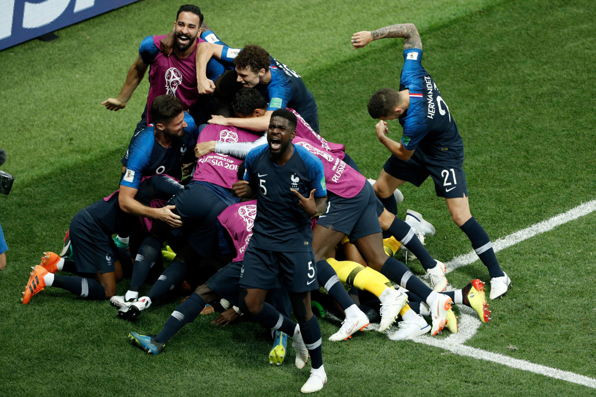 Goals from Paul Pogba and Kylian Mbappe saw France pull clear ©Getty Images