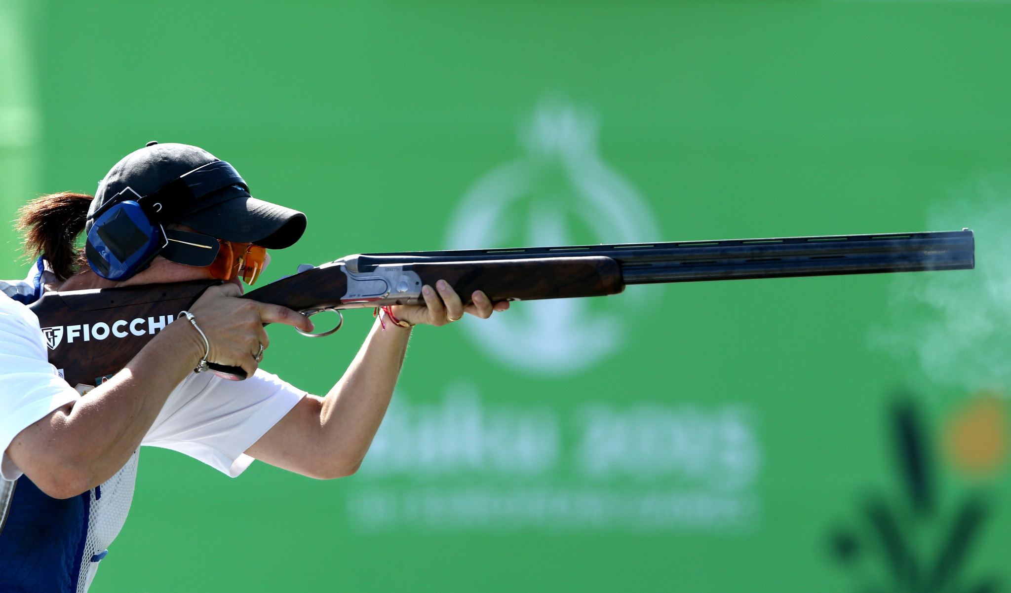 San Marino's Alessandra Perilli tops the women's trap qualification standings after three rounds at the ISSF World Cup event in Tucson, Arizona ©Getty Images