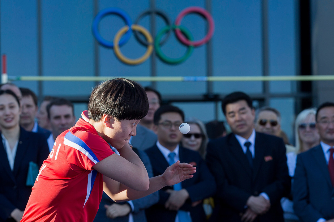 North and South Korea table tennis players came together for a special exhibition event in Lausanne last month to mark Olympic Day and demonstrate how the sport is helping forge stronger ties between the two countries ©Instagram