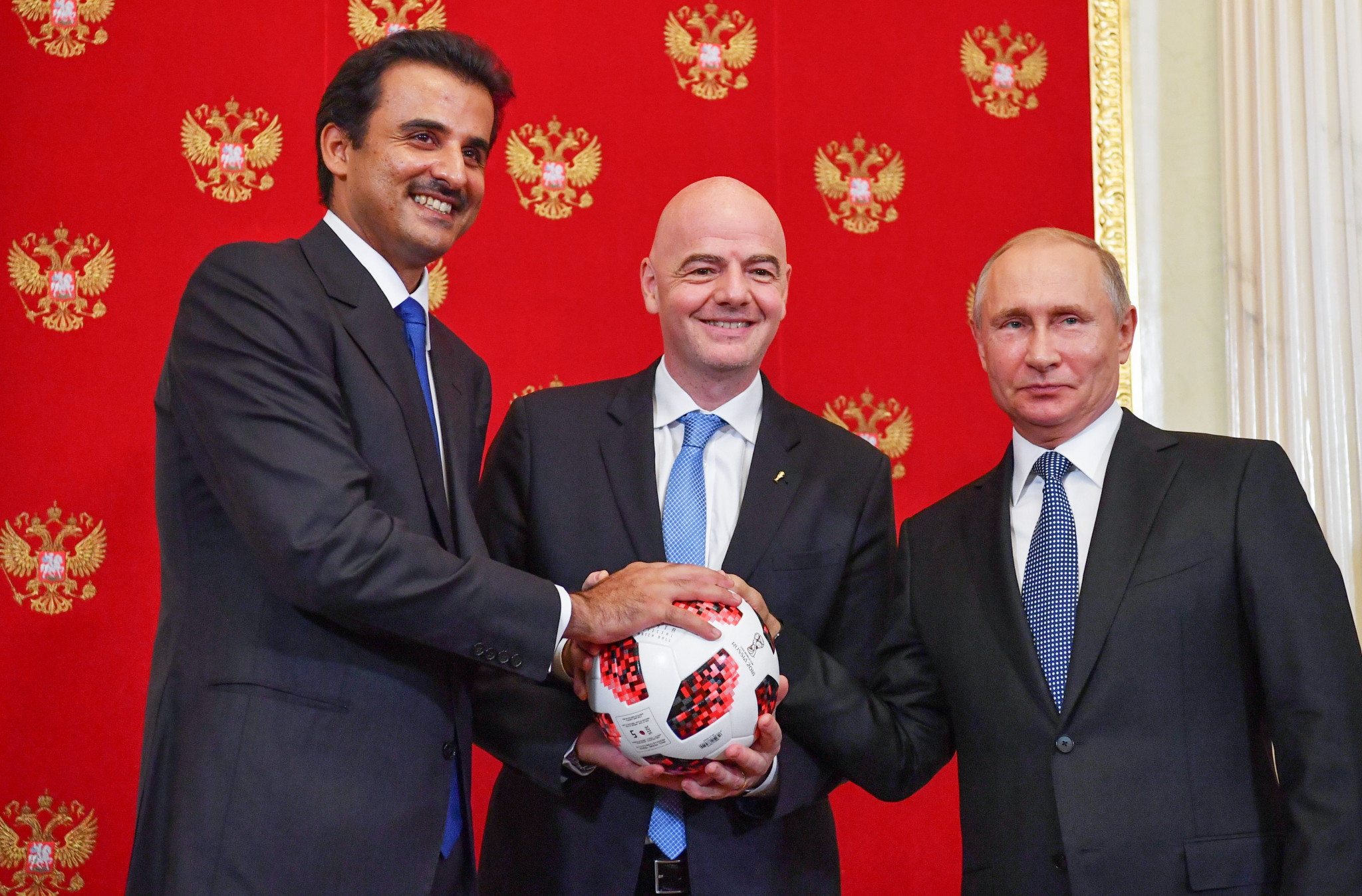 "Qatar 2022 claim they are ""embracing the pressure"" after being passed FIFA World Cup baton by Russia"