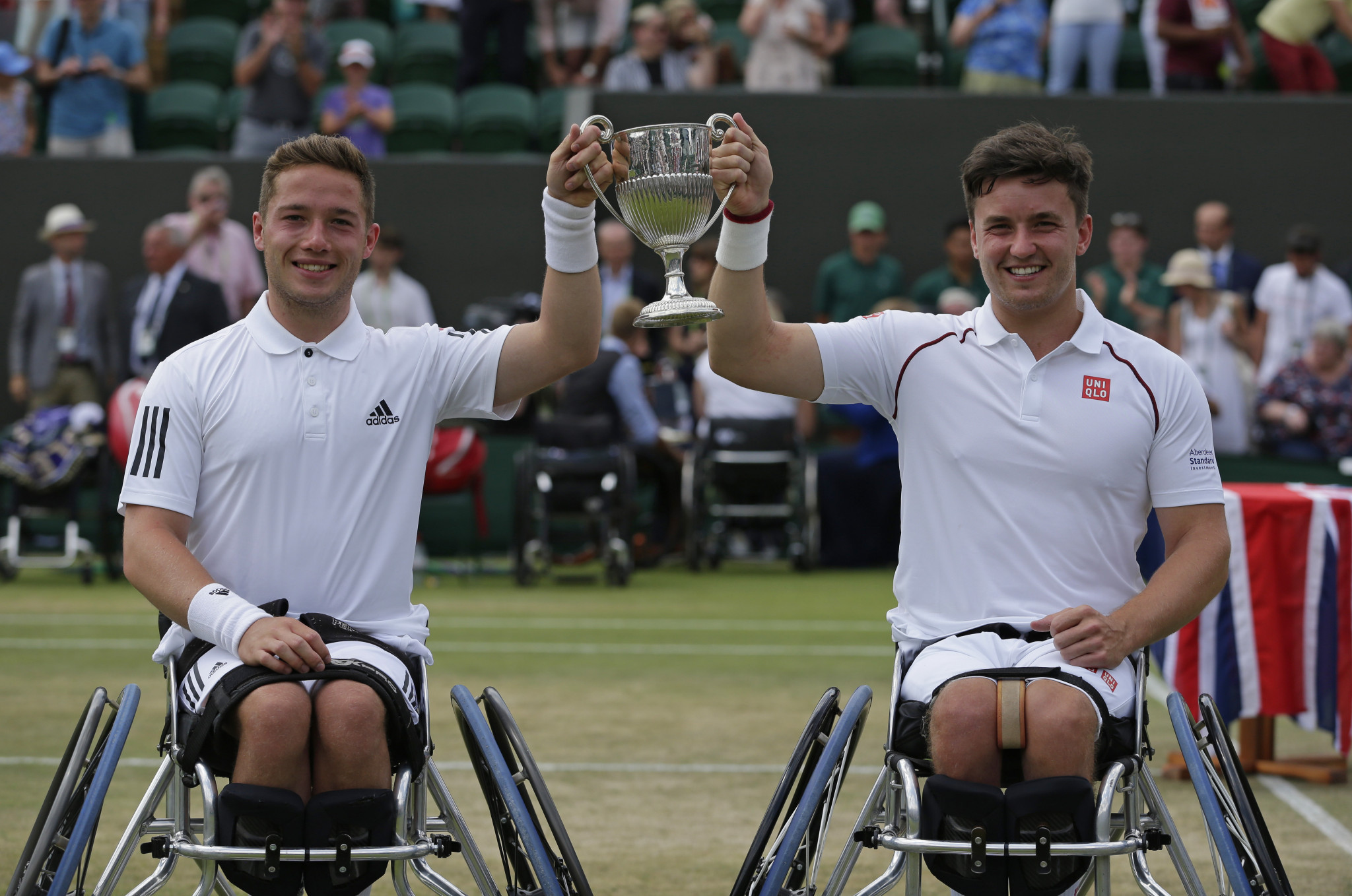 Gordon Reid and Alfie Hewett will compete in Nottingham having won their third Wimbledon title on Saturday ©Getty Images