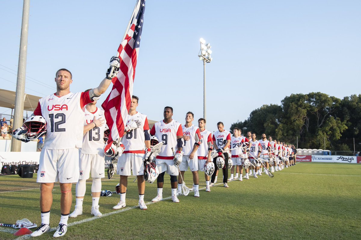 The United States comfortably beat Scotland today to make it four wins out of four in the blue division at the World Lacrosse Championships in Israel ©USLacrosse/Twitter
