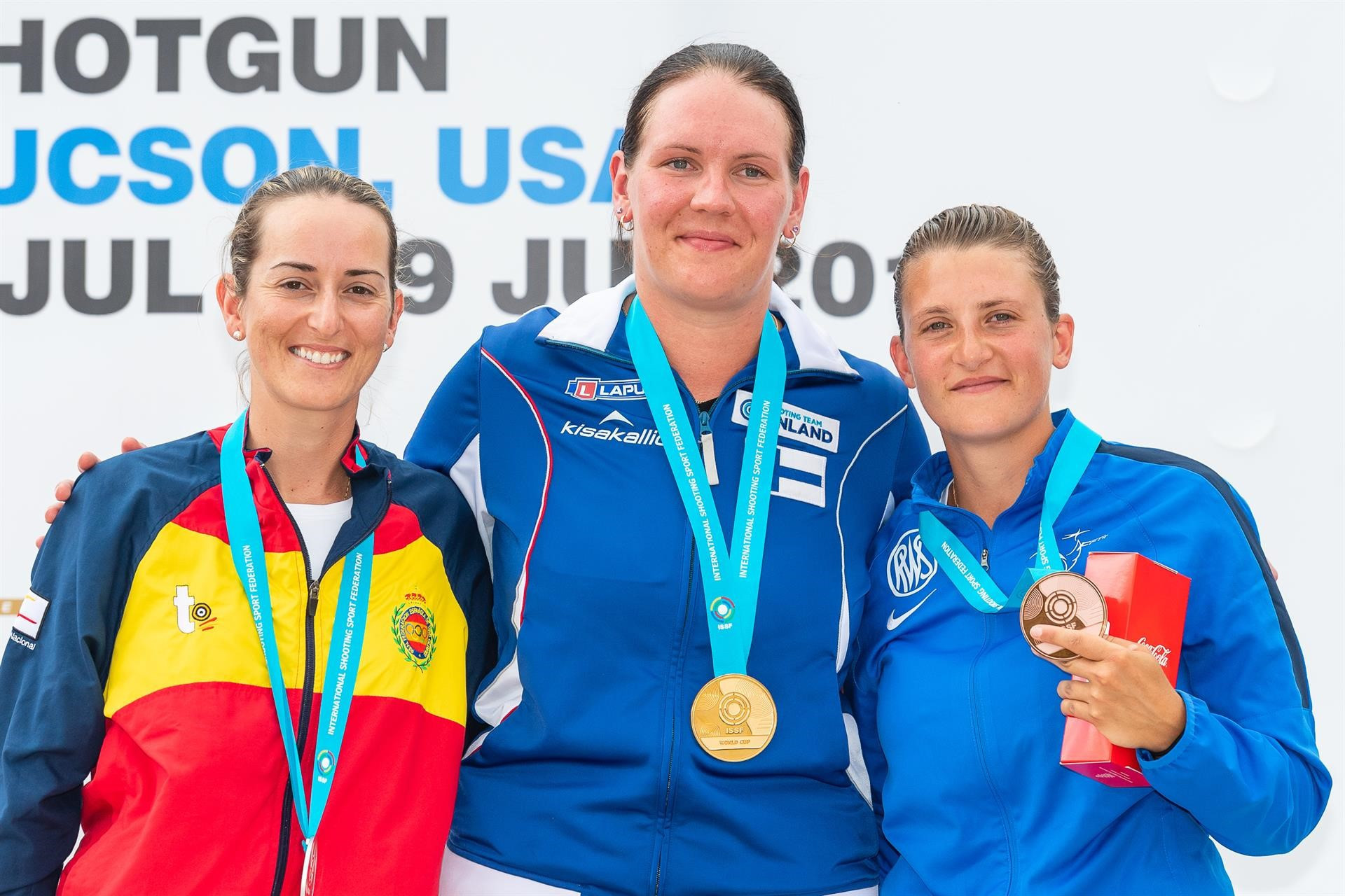Finland's Marika Salmi emerged victorious from the shoot-off to take gold for the first time in her career ©ISSF