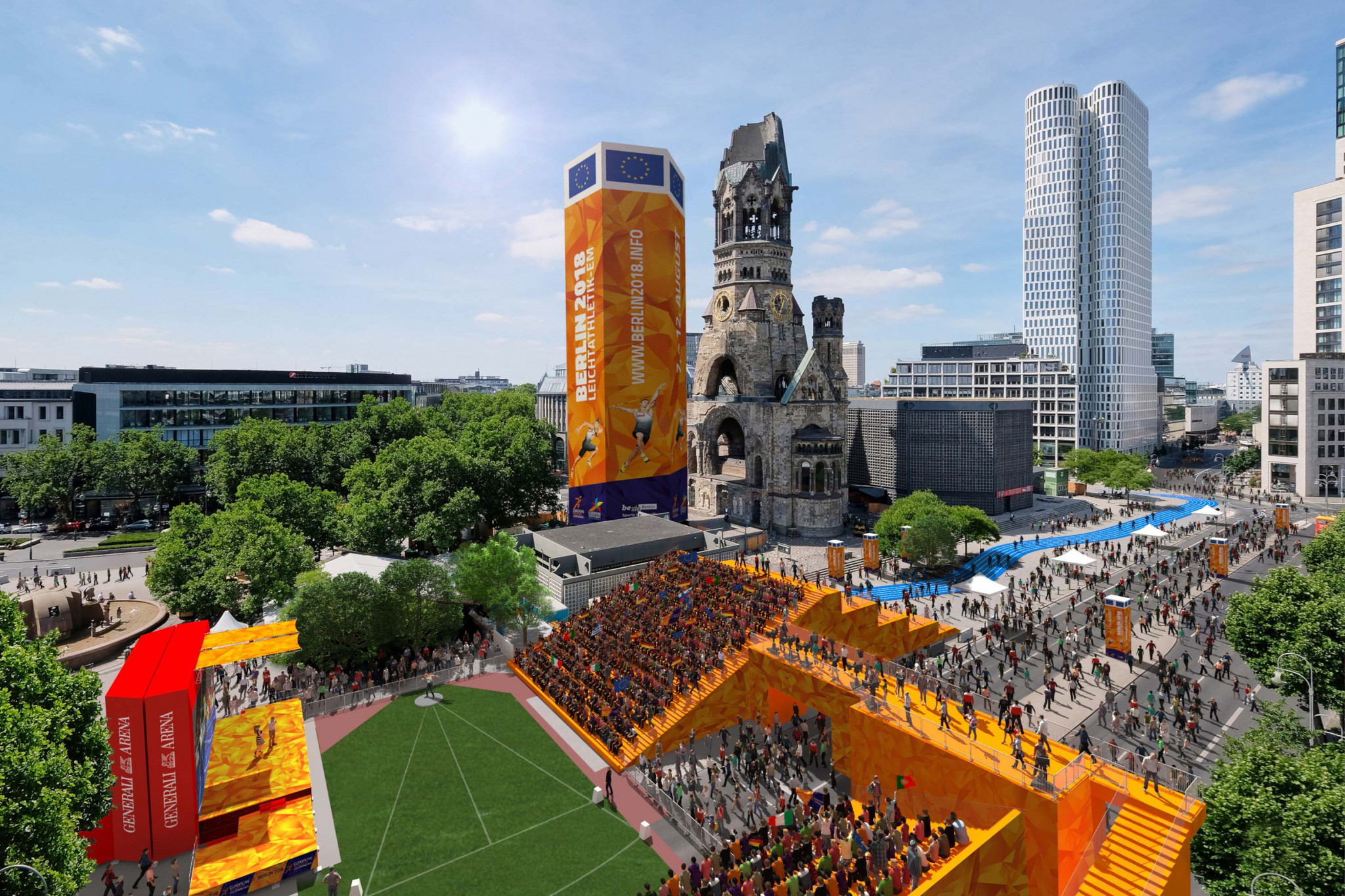 The European Mile at the Breitscheidplatz will host shot put qualifying and the end of the marathon and race walks and all the victory ceremonies during the European Athletics Championships in Berlin ©Berlin 2018