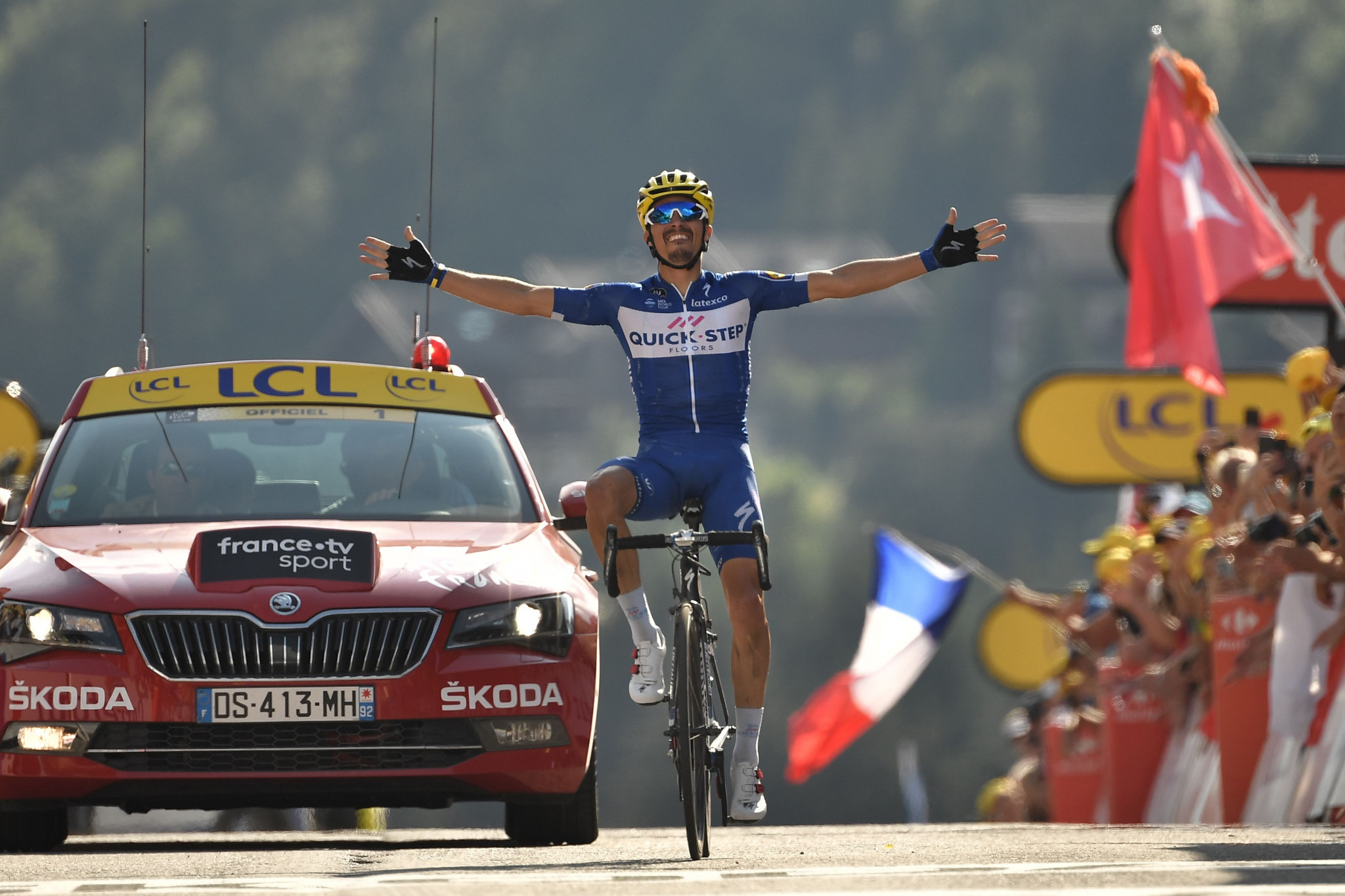 Alaphilippe solos to maiden Tour de France stage win as van Avermaet extends race lead