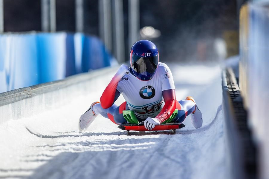 """Britain's double Olympic skeleton champion Lizzy Yarnold has had back surgery to fix """"some"""" slipped discs ©BBSA"""