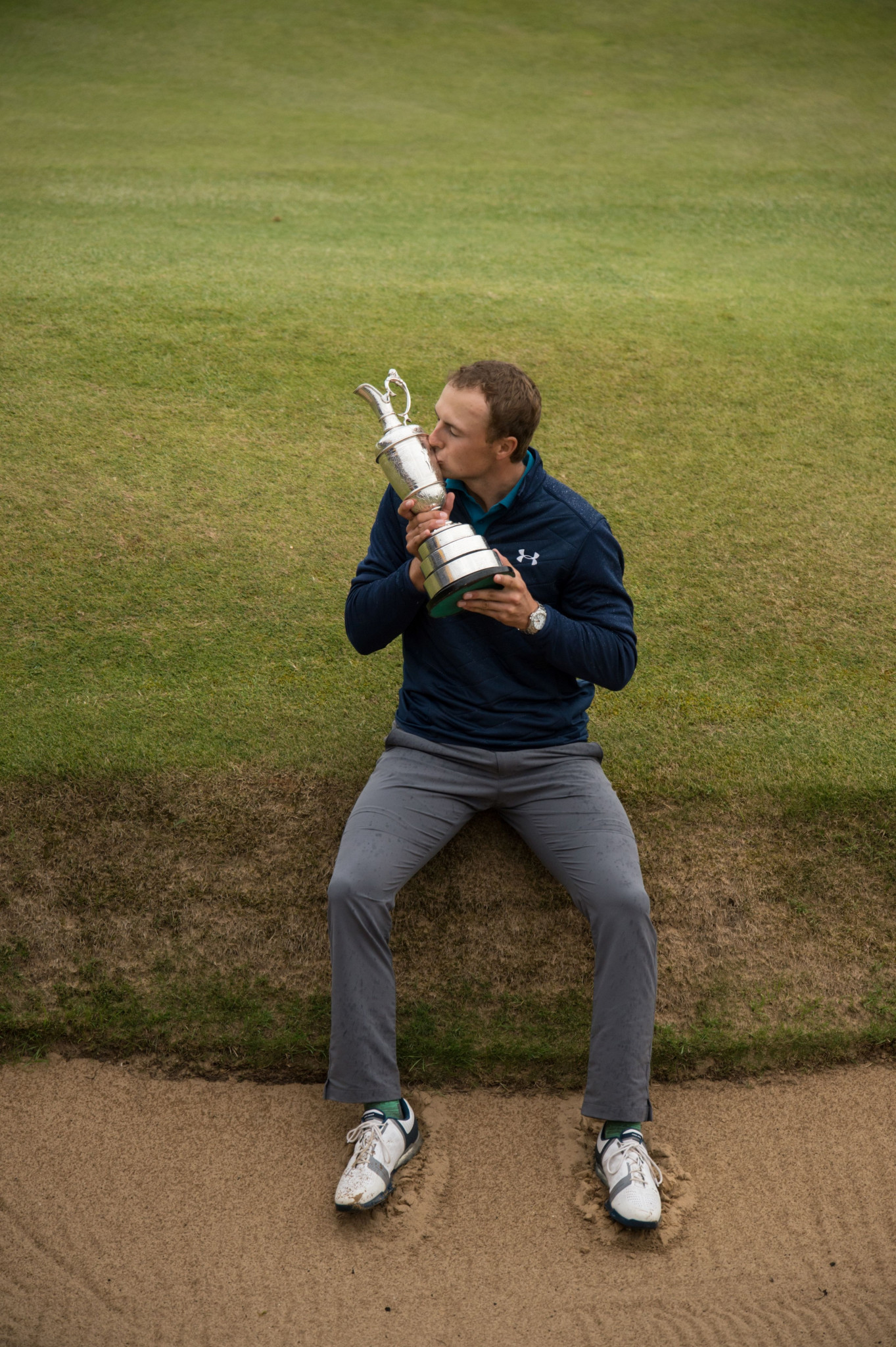 The United States' Jordan Spieth will hope to defend his title this weekend, after taking The Open last year with three birdies and an eagle in the last five holes ©Getty Images