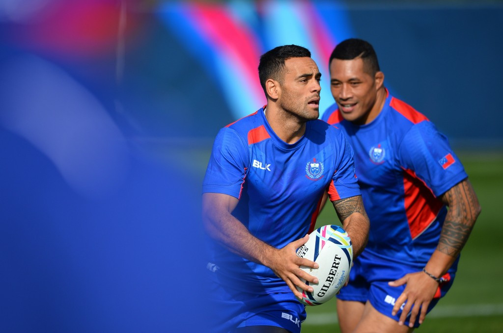 Samoa in training ahead of the Rugby World Cup