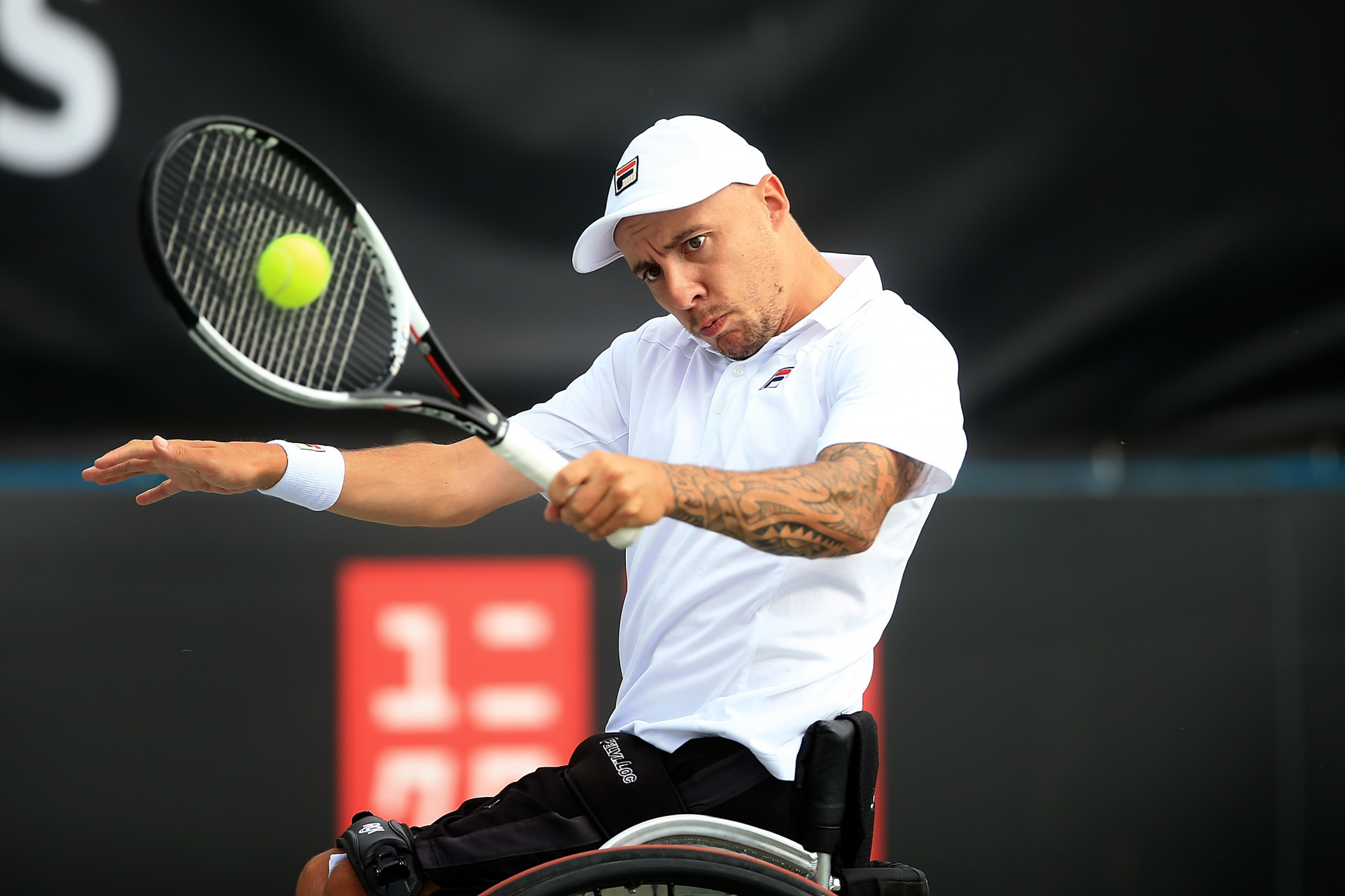 Andy Lapthrone was one of many British players in action on day two of the British Open Wheelchair Tennis Championships in Nottingham ©Getty Images