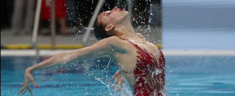 Varvara Subbotina from Russia has won the first gold of the FINA World Junior Artistic Swimming Championships in Budapest ©FINA