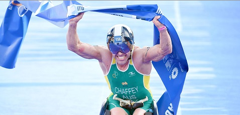 Chaffey bags fifth global crown as Australia claim hat-trick at ITU Para-triathlon World Championships