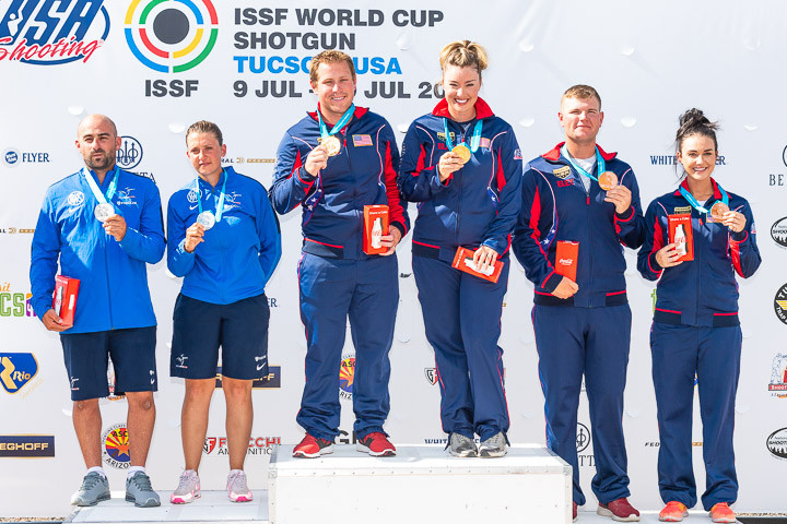The United States claimed gold and bronze as the World Cup season came to an end ©ISSF