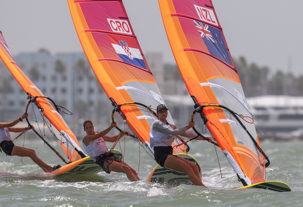 New Zealand's Veerle ten Have now leads the girls' RS:X class after day three's racing at the Youth Sailing World Championships in Texas ©World Sailing