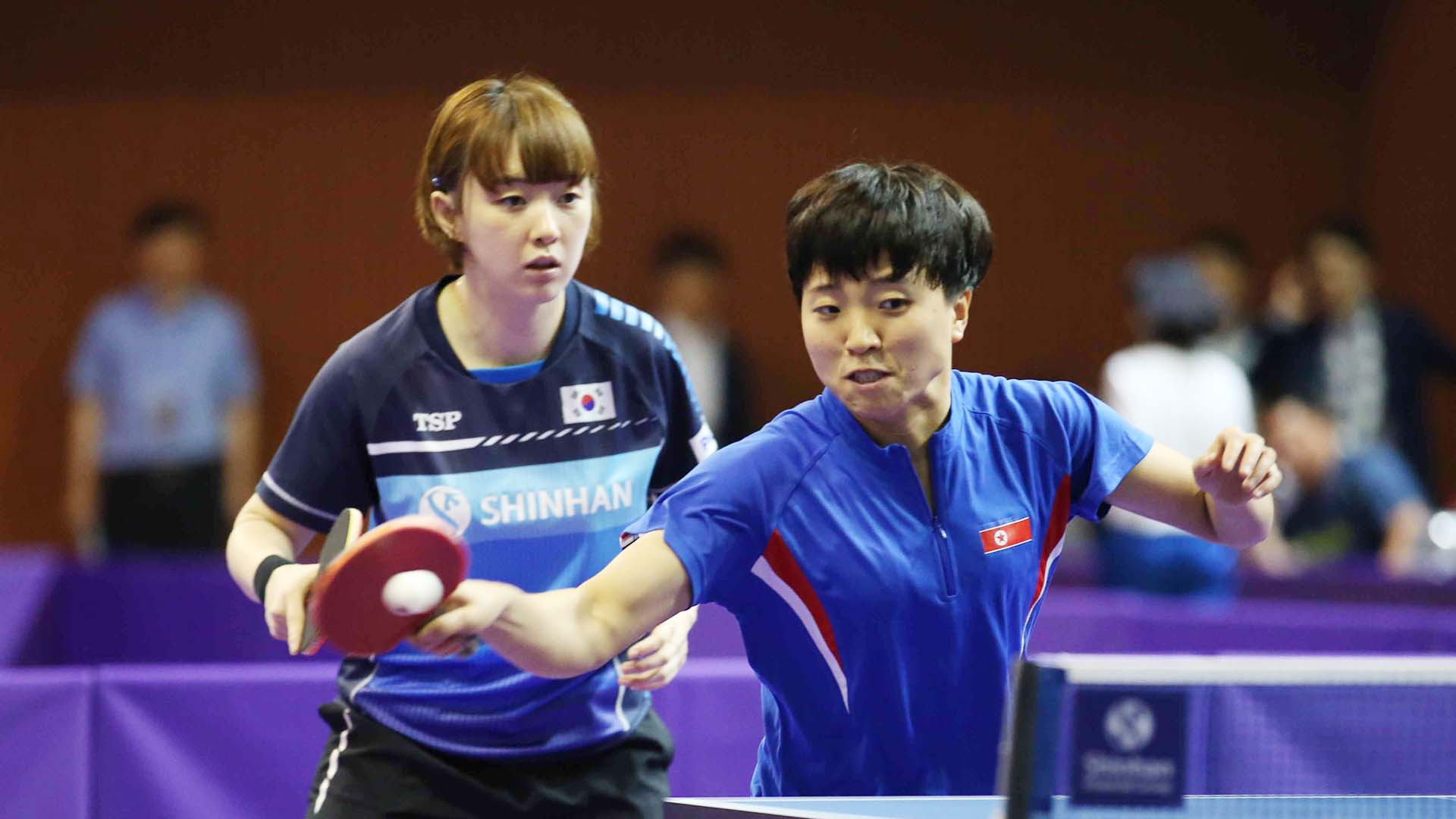 Mixed day for home unified teams at ITTF Korea Open