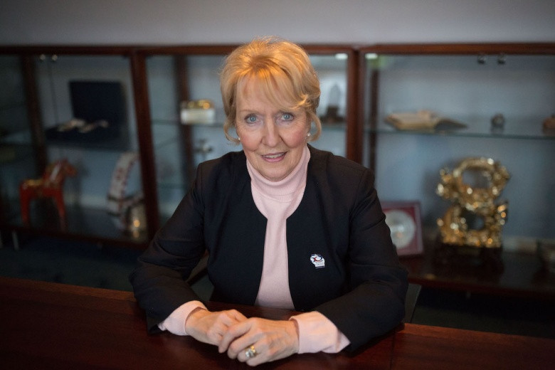 Current WCF President Kate Caithness will stand unopposed for a third term at the federation's general assembly in September ©WCF