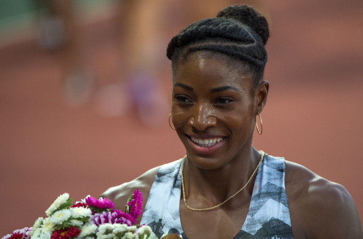 Olympic 400m champion Shaunae Miller-Uibo, pictured after winning over 200m at the IAAF Diamond League meeting in Rabat, will meet 20-year-old rival Salwa Eid Naser over a full lap tomorrow night in the Stade Louis II in Monaco ©Getty Images